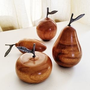 Handmade carved wooden fruit with